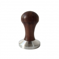 ESPRESSO TAMPER IN WALNUT WOOD WITH 58mm S.STEEL CONVEX BASE