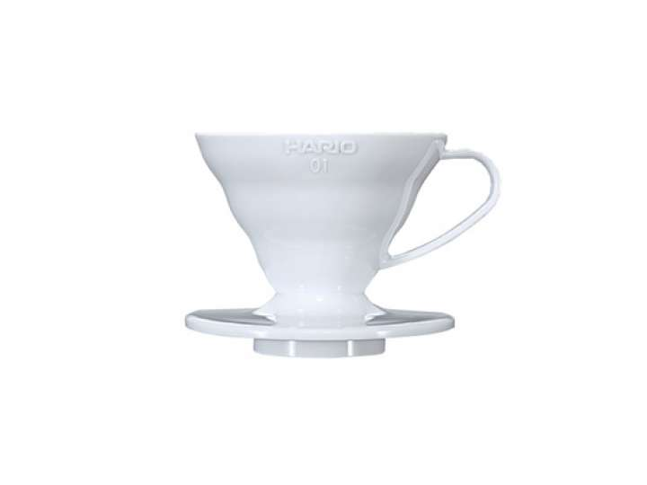COFFEE DRIPPER V60  IN PLASTICA BIANCO 1CUP