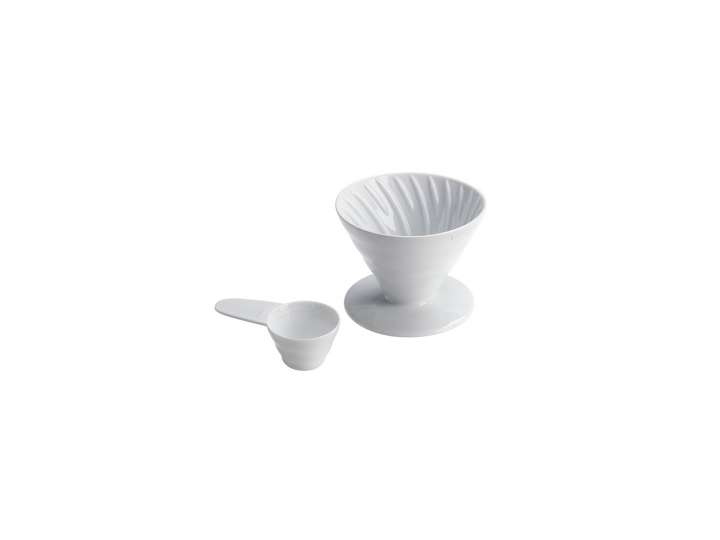 WHITE CERAMIC HARIO V60 DRIPPER 2CUPS