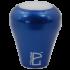 Aluminum Barista Handle with Blue Cobalt Matt finish and black top