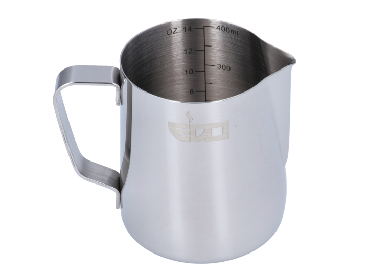 EDO BARISTA LINED STAINLESS STEEL MILK PITCHER - 350 ml/12 oz