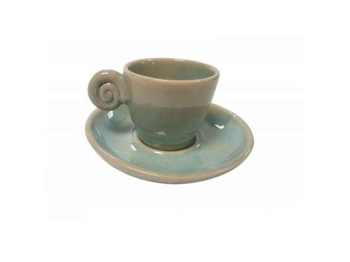 EDO COFFEE SET UZU LINE LIGHT BLUE