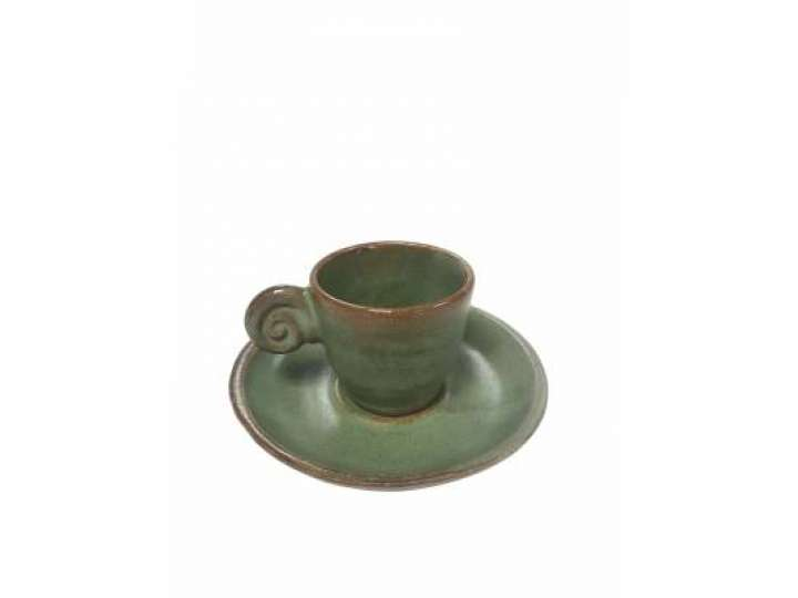 EDO COFFEE SET UZU LINE GREEN