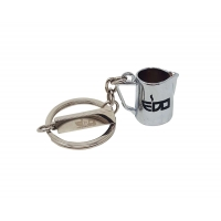 EDO MILK PITCHER CHROME KEYCHAIN