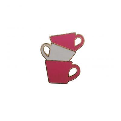 CUP BROOCH BABY PINK